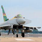 Eurofighter Typhoon FGR4 Q-0C 3 Sqn 100th Anniversary Typhoon by Clare Scott