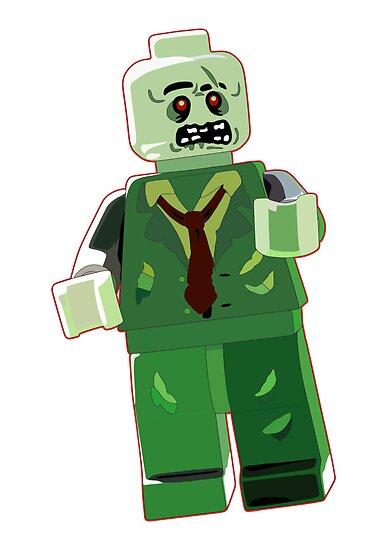 Lego zombie by puppaluppa