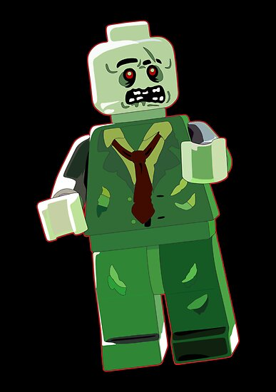 Lego zombie by Emma Harckham