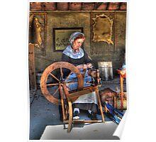 Spinning Yarn Poster
