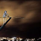 Tightrope Skeleton? - Sculpture By The Sea by kcy011