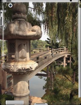 Japanese Bridge at the entrance to Sansho-En by John Gaffen