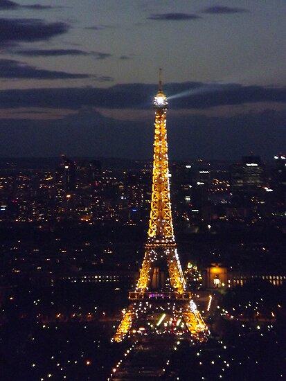 Eiffel tower lights, Paris, France by graceloves