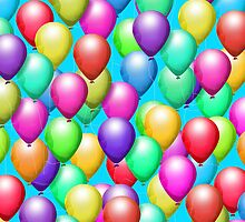 It Is Balloons! iPad Case by Cherie Balowski
