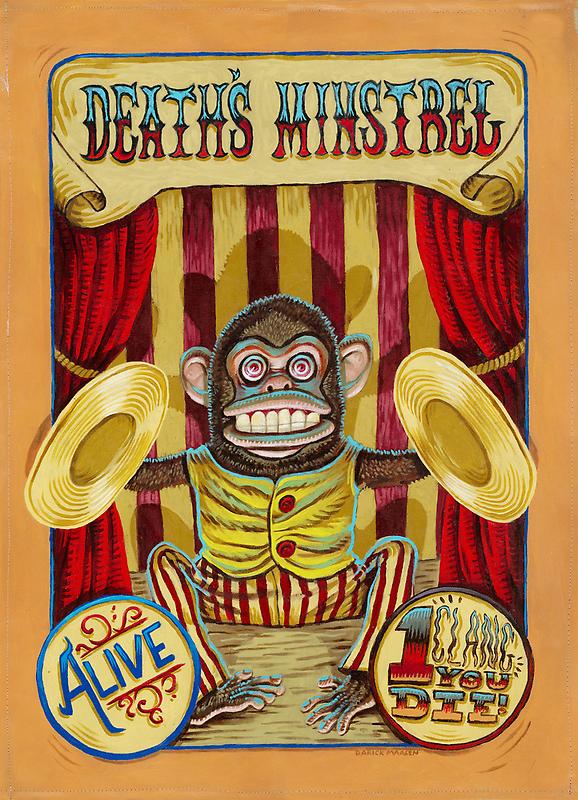 Death's Minstrel: Jolly Chimp Sideshow Banner by darickmaasen
