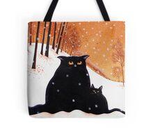 Lou-Lou and Lolas' snowflake wish. Tote Bag