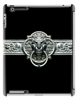 Ornate Vintage Lion Doorknocker iPad Case by Steve Crompton