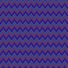 Purple and Periwinkle Chevron Stripes, Trendy iPad Case by Cherie Balowski