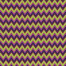 Peridot, Purple and Gray Chevron Stripes iPad Case by Cherie Balowski