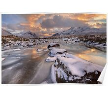 Sligachan at Christmas. Isle of Skye. Scotland. Poster