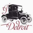 I LOVE DETROIT T-shirt by ethnographics
