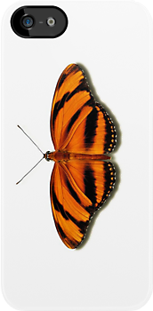 Smartphone Case - Butterfly - Banded Orange by Mark Podger