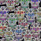 Day of the Dead, Dia de los Muertos, Sugar Skulls iPad Case by Cherie Balowski