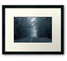 Gloomy Road to Nowhere Framed Print