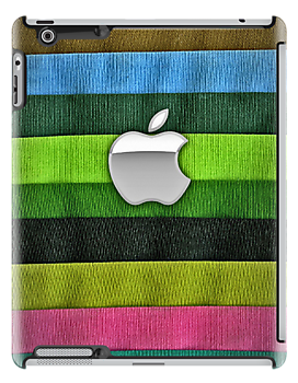 Apple Knitted Sock Design iPad Cover by David Alexander Elder