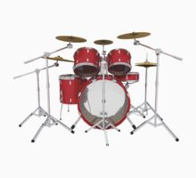 Red Drum Kit by bradyarnold