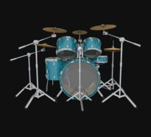 Aqua Drum Kit by bradyarnold