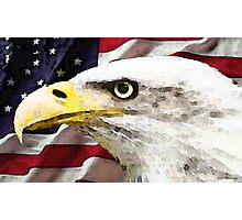 Old Glory - American Bald Eagle Photographic Print