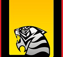 Tiger Emblem Silver/Yellow - (iPad) by Adam Angold