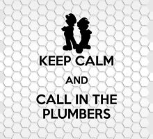 Keep Calm - Call in the Plumbers (iPad) by Adam Angold
