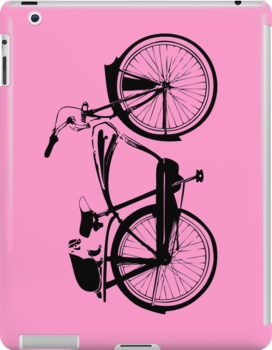 Badger On A Bicycle Pink Cases by M  Bianchi