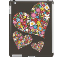 Spring Flowers Valentine Hearts Trio iPad Case/Skin