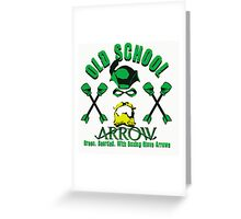 Old School Arrow Greeting Card