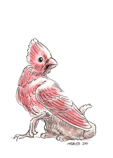 Sketch -- Mythological House Griffin, Cardinal Variety by Stephanie Smith