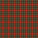 Artistic plaid pattern in red and black by nadil