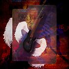 Flying Guitar iPad Case by tapiona