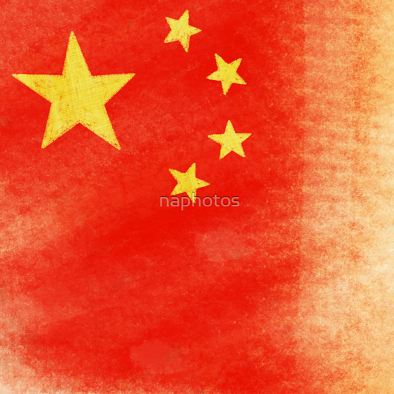 China flag by naphotos