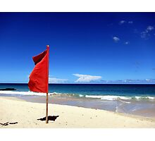 The Red Flag Photographic Print