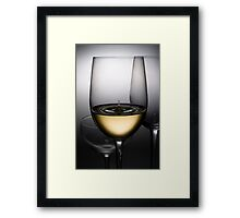 wine drops Framed Print