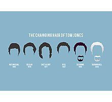 The changing hair of Tom Jones Photographic Print
