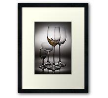 splashing wine Framed Print