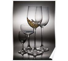 splashing wine Poster