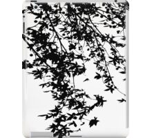 black on white iPad Case/Skin