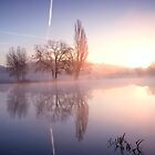 Mist on Thames shot against the sun by Jim Hellier