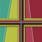 Fabric Stitching Quilted Look iPad Case by Cherie Balowski