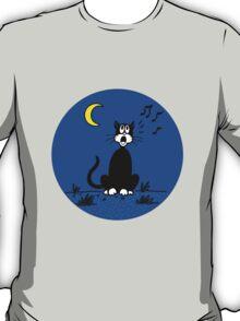 Serenading Backyard Cat T-Shirt