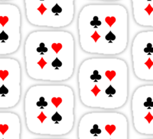 Poker / Blackjack Card Suits Pattern Sticker
