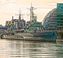 HMS Belfast in HDR by DavidWHughes