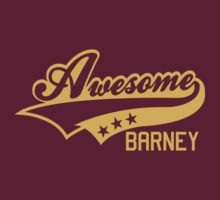 AWESOME BARNEY (yellow type) big version by freakysteve