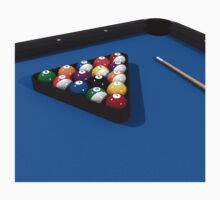 Billiards / Pool Balls on Table by bradyarnold