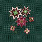 Floral Pattern iPad Case by Cherie Balowski