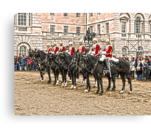 The Queens Red Horseguards Canvas Print