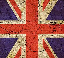 'Cracked Britannia' Union Jack Flag iPad case by Steve Crompton