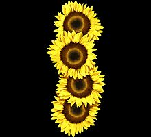 Iphone Case Sunflowers - Midnight Black by Mark Podger