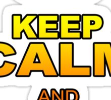 KEEP CALM AND RIDE WAVES Sticker