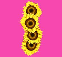Iphone Case Sunflowers - Shocking Pink by Mark Podger